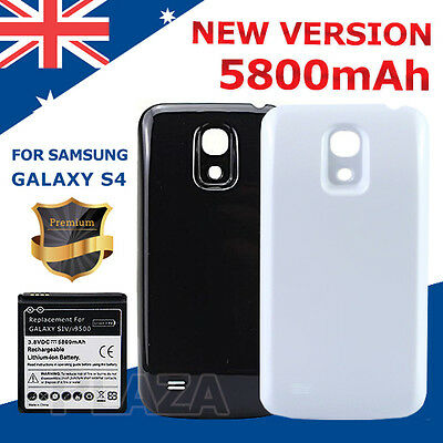 Replacement extended 5800mAh Battery with Back Cover for Samsung Galaxy S4 i9500