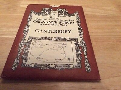 OS Re-print of 1st Edition map of CANTERBURY Sheet 81