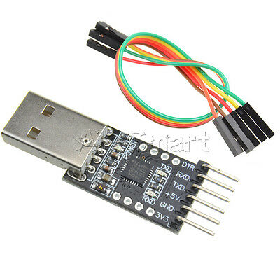 New CP2102 USB 2.0 to UART TTL 6PIN Module Serial Converter with Free Cables