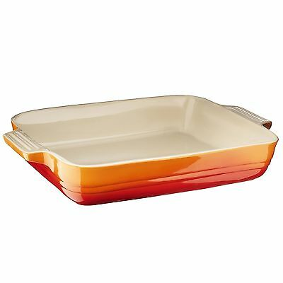 Le Creuset Stoneware Shallow Rectangular Dish 32 cm Volcanic High Quality New