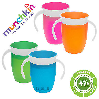 Munchkin Miracle 360 Trainer Cup 207ml Blue Pink Green Orange AntiSpill Drinking