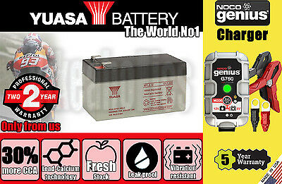 Genuine Yuasa Battery 2Years Warranty - NP1.2-12 + Noco G750 charger