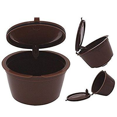 2x Refillable Reusable Compatible Coffee Capsules pods for DOLCE GUSTO Machines