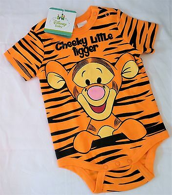 TIGGER... New Sizes 00 or 0 Licensed Romper Bodysuit, New/Tags, Disney, Baby