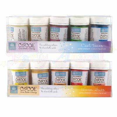 Squires Kitchen COCOL - Food Colour for CHOCOLATE - Professional Quality Sets