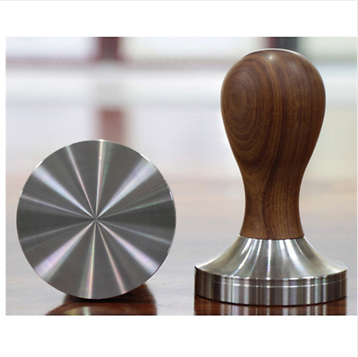 Espresso Coffee Tamper Wooden 58mm Stainless Steel Timber Handle Accessory Gear