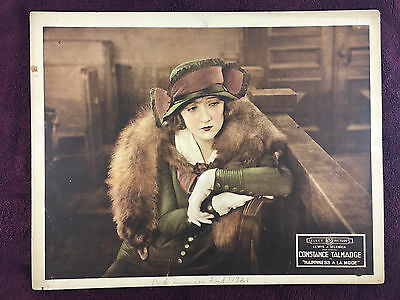 1919 Silent Film Lobby Card - Constance Talmage in Happiness A La Mode ORIGINAL