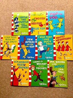 10 Book Dr Seuss Set (New Childrens Early Reader P/B Reading Rhyming Collection)
