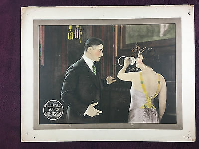 """1920 Silent Film Lobby Card Clara Kimball Young in Mid-Channel ORIGINAL 11""""x14"""""""