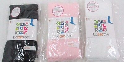 TicTacToe  Girls Heavy Cotton Tights 3pk Assorted Colors Ages 2-4