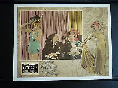 Howard Hawks ' 2Nd Film - 1926 Fig Leaves - Rare Autographed Lobby Card Silent