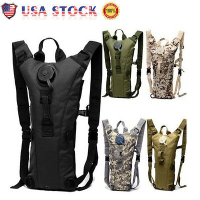 USA 3L Military Hiking Camping Hydration Backpack Pack Water Bladder Camelbak