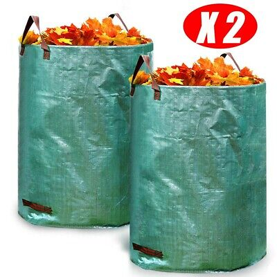 2pcs Portable Large Garden Woven Bag Waste Refuse Rubbish Grass Recycling 270L