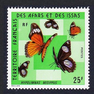 Afar and Issa African Monarch Butterfly 1v 25f SG#644 SC#392