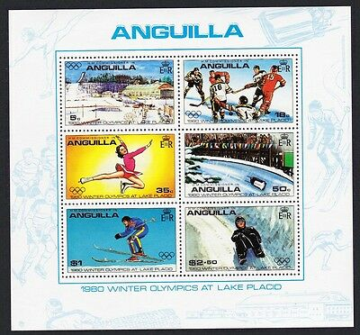 Anguilla Winter Olympic Games Lake Placid USA MS 6v SG#MS395 SC#380a