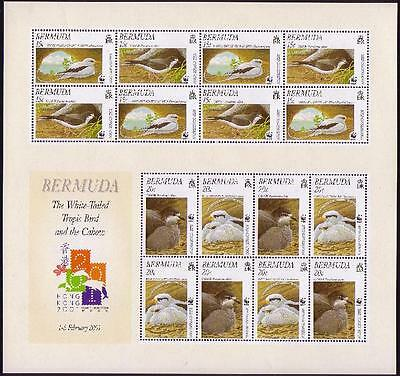 Bermuda WWF Cahow & White-tailed Tropicbird Sheetlet of 4 sets SG#MS856 SC#801a