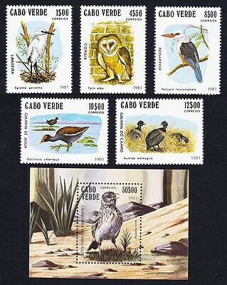 Cape Verde Birds 5v+MS SG#512/MS517 SC#436-41 MI#445-49