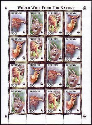 Burundi WWF Sitatunga Sheetlet of 4 sets SC#774 a-d MI#1867-70
