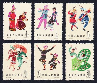 China Chinese Folk Dances 6v 3rd issue SG#2110/15 SC#702/707