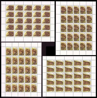Belarus WWF European Beaver 4 Full Sheets of 25 stamps SG#119/22 SC#117-20