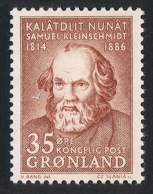 Greenland 150th Birth Anniversary of S Kleinschmidt philologist 1v SG#65 SC#68