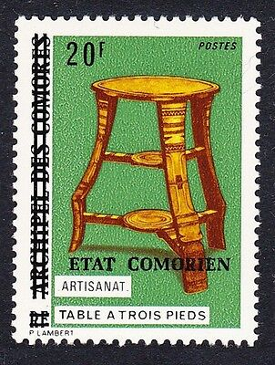 Comoro Is. Overprint 'Etat Comorien' on 20 Fr Art SC#137 MI#194