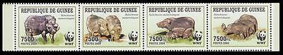 Guinea WWF Giant Forest Hog Strip of 4v MI#6714-17
