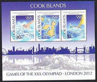 Cook Is. London Olympic Games MS SC#1413-15 SALE BELOW FACE VALUE