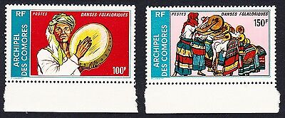 Comoro Is. Folklore Dances 2v with borders SG#173/74 MI#192-92 CV£190+