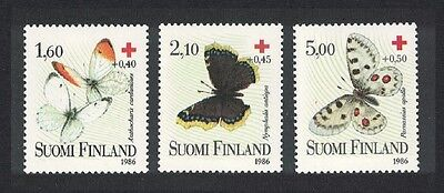 Finland Butterflies Red Cross 3v SG#1102/04 MI#1169-71