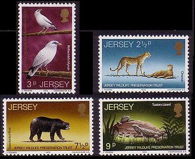 Jersey Wildlife Preservation Trust 4v (2nd issue) SG#73/76