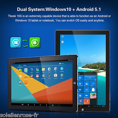"""10,1"""" Teclast Tbook 10S Tablet PC Windows 10 Android5.1 4+64GB WIFI Camera OTG"""