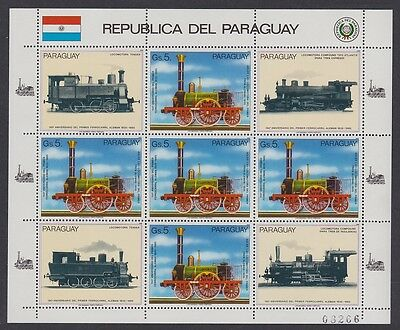 Paraguay German Railroads Sheetlet SC#2151