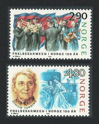 Norway Centenary of Salvation Army in Norway 2v SG#1035/36