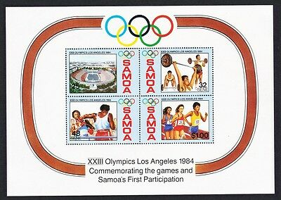 Samoa Los Angeles Olympic Games MS SG#MS682 SC#632a