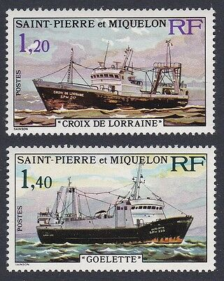 St. Pierre and Miquelon Stern Trawlers 2v SG#550/51 SC#451-52