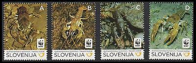 Slovenia WWF Stone Crayfish set of 4 MI#904-07