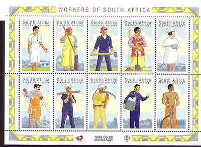 South Africa Workers Day Sheetlet of 10v SG#1121/30