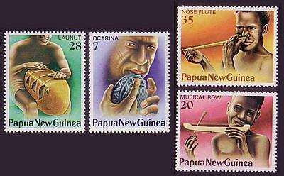 Papua NG Musical Instruments 4v issue 1979 SG#359/62 SC#491-94