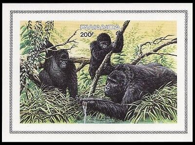 Rwanda WWF Mountain Gorilla Miniature Sheet imperforated SG#MS1223 SC#1212