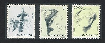 San Marino 'The Civil Virtues' Sketches by Emilio Greco 6v 3rd series D1
