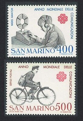 San Marino Radio Postman World Communications Year 2v SG#1212/13