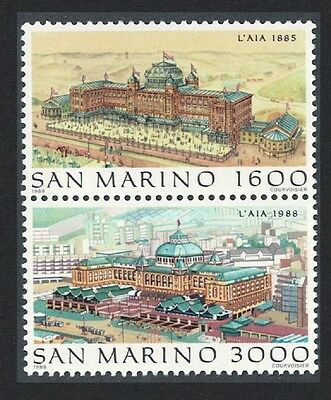 San Marino 'Filacept' International Stamp Exhibition 2v Vertical pair SG#1331/32