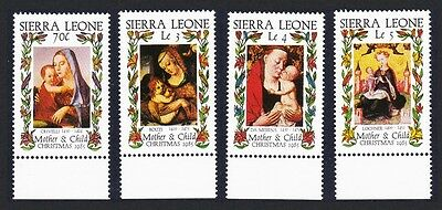 Sierra Leone Christmas 'Madonna and Child' Paintings 4v SG#903/06