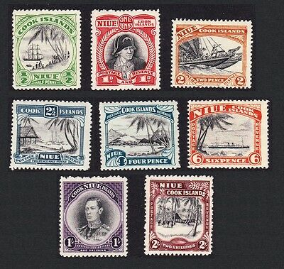 Niue Definitives George Captain Cook VI 8v MH SG#89/96 SC#77-84