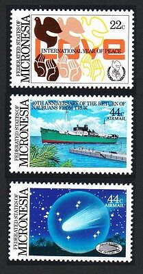 Micronesia Anniversaries and Events 3v SG#48/50 SC#46+C19-C20