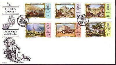 Jersey Links with Australia FDC SG#344/49