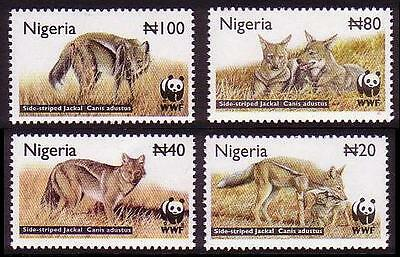 Nigeria WWF Side-striped Jackal 4v SG#809/12 SC#759-62 MI#762-65
