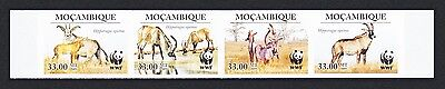 Mozambique WWF Roan Antelope Imperforated strip of 4v