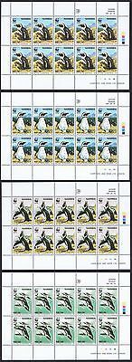 Namibia WWF Jackass Penguin 4 Sheetlets of 10 stamps each 10 sets SG#713/16